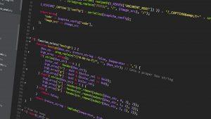 ekran z kodem aplikacji internetowej