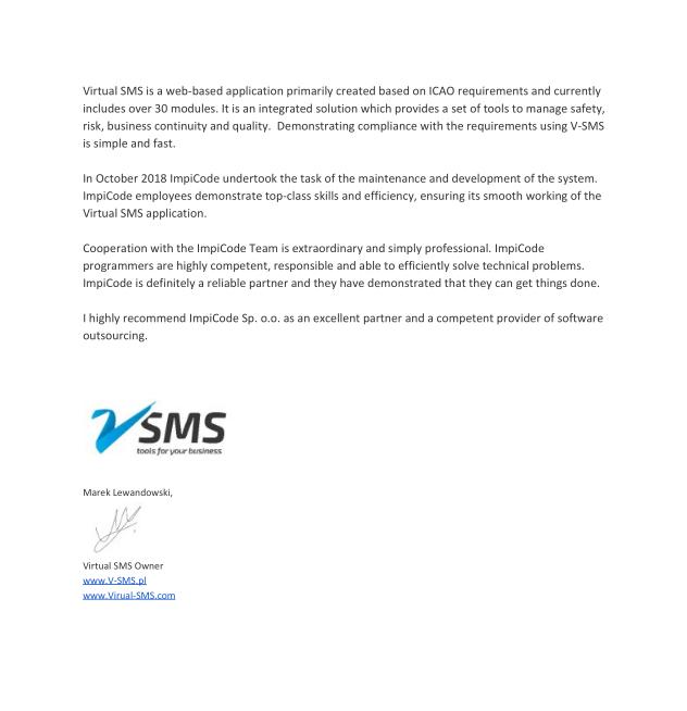 VSMS referencje